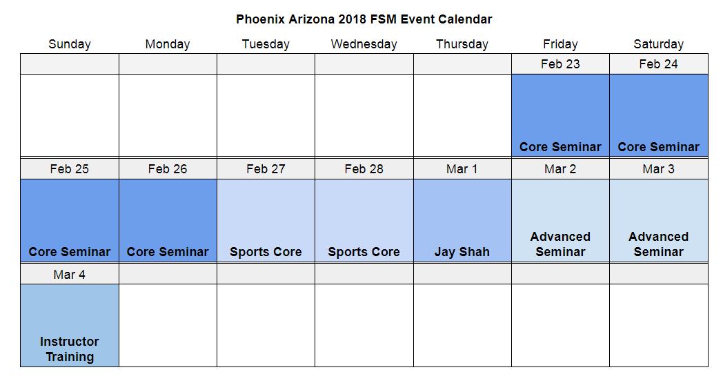 Phoenix 2018 Event Calendar
